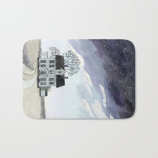 House under the Starry Skies Bath Mat