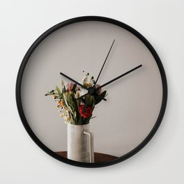table bouquet  Wall Clock