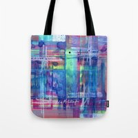 plaid Tote Bags featuring Plaid by Julie M Studios