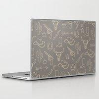 western Laptop & iPad Skins featuring WESTERN by Brukk
