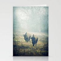 bison Stationery Cards featuring Bison by Slight Clutter