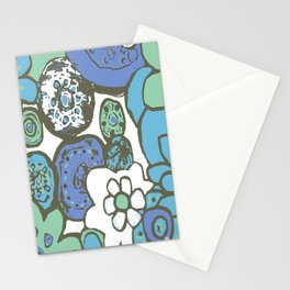DUSTY BLUE GARDEN Stationery Cards