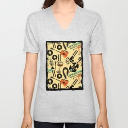 Jazz Rhythm (positive) Unisex V-Neck