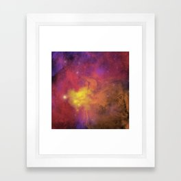 Nebula (plain) Framed Art Print