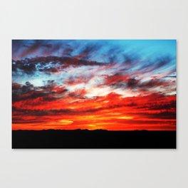 Sunset over Wichita Mountains Canvas Print