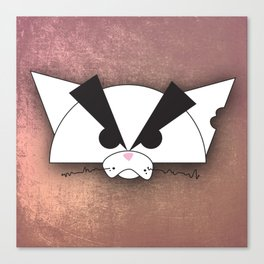 Crabby Cat - white Canvas Print