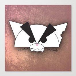 Crabby Cat - white Canvas Print