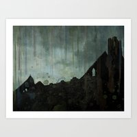 celtic Art Prints featuring Celtic ruin  by IvanaW