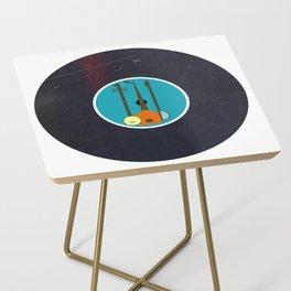 Vinyl Record Art & Design | Mid-Century Modern Music Instruments Side Table