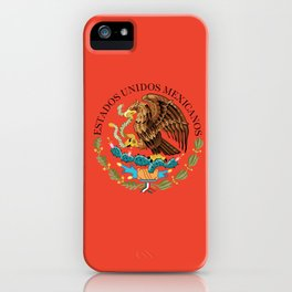 Mexican Coat of Arms Seal on Adobe Red iPhone Case