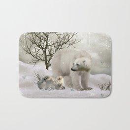Awesome polar bear Bath Mat