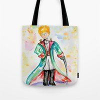 le petit prince Tote Bags featuring The little Prince- Le Petit Prince by Colorful Simone
