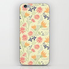 Autumn Floral Pattern iPhone Skin