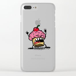 Cupcake Monster Clear iPhone Case