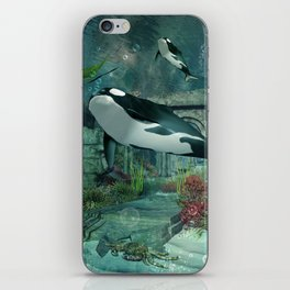 Wonderful orca iPhone Skin