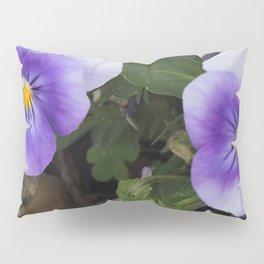 Blue Pansies Pillow Sham