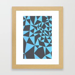 cool composition with bluish triangles. Framed Art Print