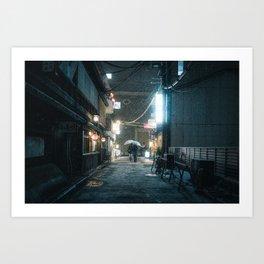 Kyoto snow 1 Art Print