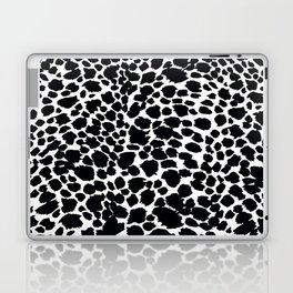 Animal Print Cheetah Black and White Pattern #4 Laptop & iPad Skin