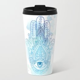 Hamsa Blue Travel Mug