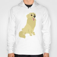 golden retriever Hoodies featuring Golden Retriever by Sarah