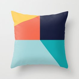 Colorful pattern XI Throw Pillow