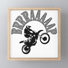 Brrraaaaap Checkered Flag Moto Language Framed Mini Art Print