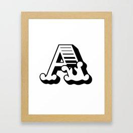 The Letter A - Retro Vintage Design Framed Art Print