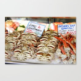 Pike Place Market Seafood Canvas Print