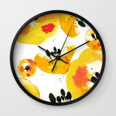 Water Flowers Wall Clock