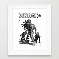 zombies Framed Art Prints featuring Zombies by Christian G. Marra