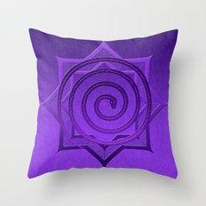 okataar purple mandala Throw Pillow