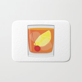 Old Fashioned Cocktail Bath Mat