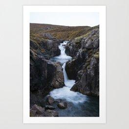 Gufufoss's waterfall Art Print