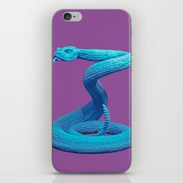 Blue Snake Poster iPhone Skin