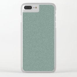 Dense Melange - White and Deep Green Clear iPhone Case