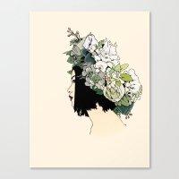 geisha Canvas Prints featuring Geisha by Hypathie Aswang
