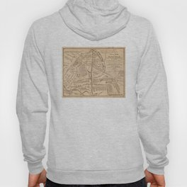Vintage Map of The Battle of Bull Run (1861) Hoody