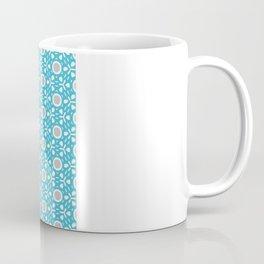 Tilly pattern - blue+grey Coffee Mug