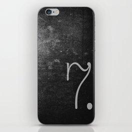 NUMBER 7 BLACK iPhone Skin