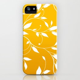 FLOWERY VINES | yellow white iPhone Case