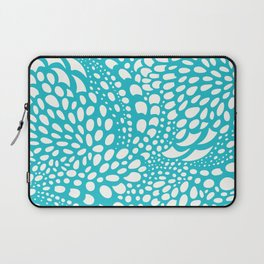 Octopus Dots: Bermuda Blue Laptop Sleeve
