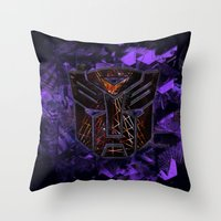 transformers Throw Pillows featuring Autobots Abstractness - Transformers by DesignLawrence