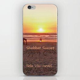 Shabbat Shalom From Tela-Viv Israel. iPhone Skin