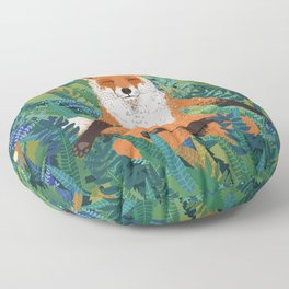 Fox Yoga Floor Pillow