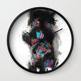 Stains 3 Wall Clock