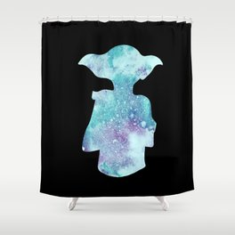 Dobby Watercolor Silhouette Shower Curtain