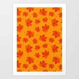 Autumn Maple Leaf Fall Leaves Art Print