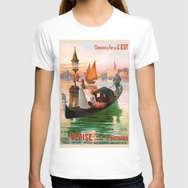 1900 Venice, Italy Travel Advertisement Poster by D'Ales T-shirt