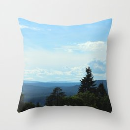 Looking Down From the Ski Jump Throw Pillow